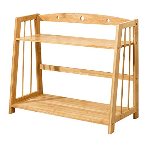 Student Creative Trapeziumvormige boekenplank met twee lagen, leer/bureau Bamboe opbergrek Meerdere Kinetische energie 42 * 24.5 * 42cm