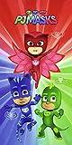 PJ Masks Kinder Badetuch 75cm x 150cm Heroes 100% Baumwolle Velours-Qualität Pyjamahelden Catboy...