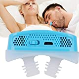 Anti Snoring Filter Devices, USB Rechargeable 2 in 1 PM2.5 Breathing Air Purifier Continuos Positive Airway Pressur Vents Nasal Dilator for Reduce Snore(Blue)