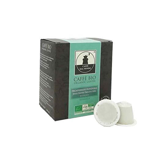 100 capsule caffè biologico compatibili Nespresso compostabili biodegradabili monoorigine decaffeinato Honduras SHG - Intensità 8