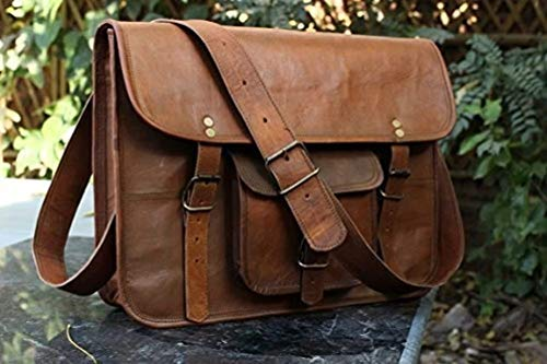 Imported Size (WxHxD): approximately 15x11x4 inch (perfect for documents, laptop / notebook, netbook or iPad) inside 3 huge compartment with 2 zipper pocket...!!! Naturally treated, strong but supple goat leather and sturdy canvas lining on this insi...