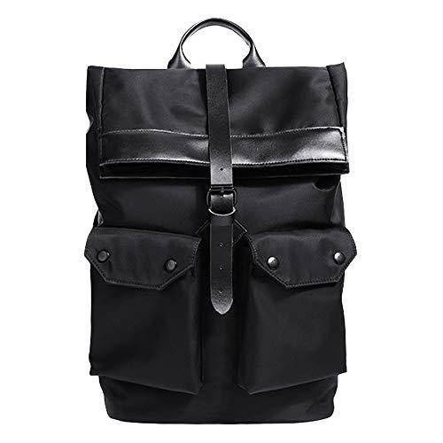 N-A Backpack Tactical Travel Bag Waterproof Nylon Climbing Camouflage Outdoor Big Rucksack (black)