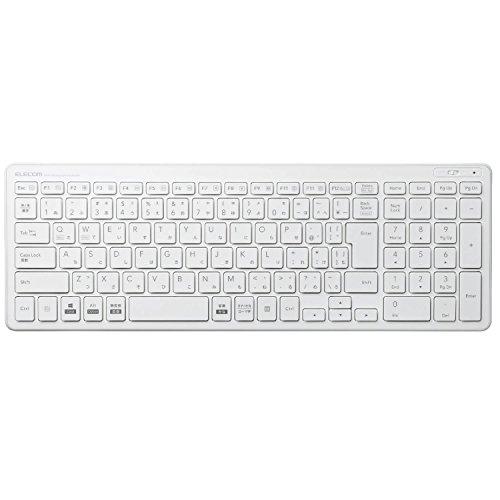 エレコム ワイヤレスコンパクトキーボード パンタグラフ式 薄型 ホワイト TK-FDP099TWH 1個 ELECOM