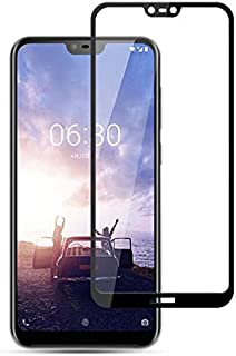 5D Tempered Glass for Nokia 6.1 Plus (X6) Full Screen Protector - Black Frame