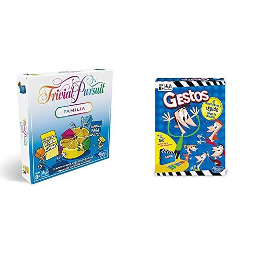 Hasbro Gaming- Trivial Pursuit (Versión Española) (E1921105) + Juego de Mesa Gestos (B0638105)