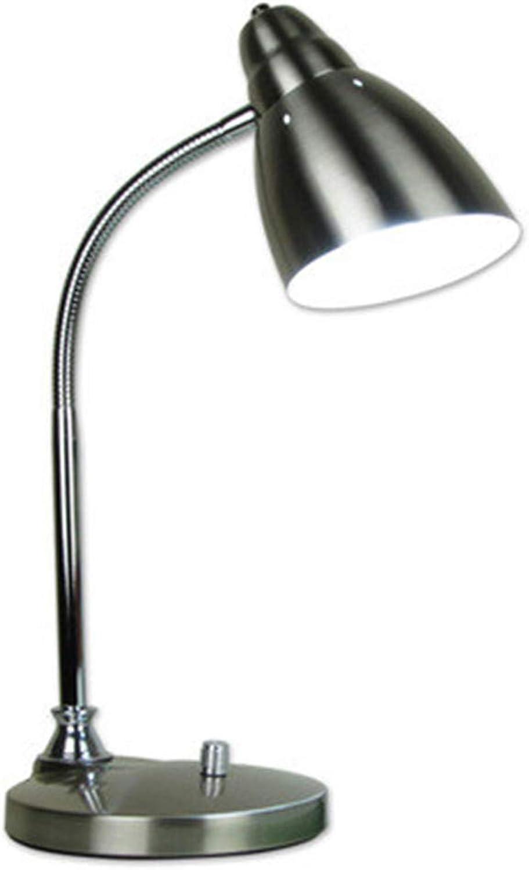 el mas de moda Lampara de mesa Metal LED Projoección de de de los ojos Ahorro de energía Aprendizaje Trabajo de oficina Lectura del escritorio del estudiante Enchufe de la lámpara E27 Sostenedor de la lámpara, plateado  los clientes primero
