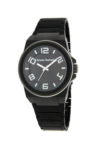 bruno banani Uhr Zelos schwarz Metallband Stahl PVD schwarz BR21127