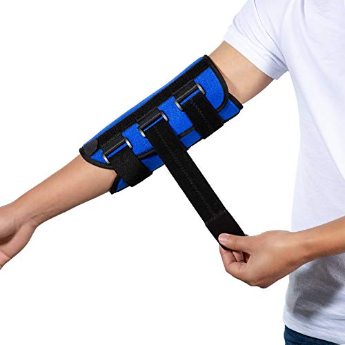 Elbow Brace, Night Splint Support for Cubital Tunnel Syndromean, Ulnar Nerve , Stabilizer Brace for Fix Elbow, Prevent Excessive Bending at night, Fits Left and Right Arms,Women, Men (L)