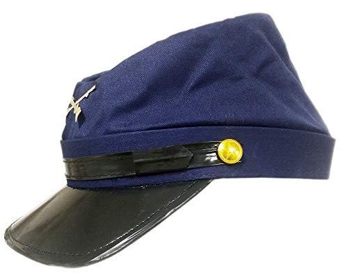 Jacobson Hat Company Cotton Civil War Union Blue Kepi Replica Hat S/M, Navy Blue