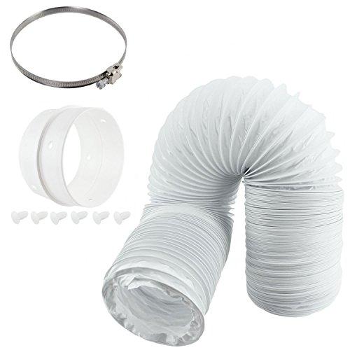 Tuyau d'évacuation et kit de bague d'extension universel Spares2go, 100 mm de diamètre, pour sèche-linge