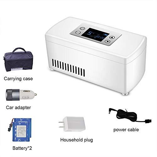 HLXB Refrigerador de Medicina Diabetes Mini refrigeradores 2-8°C para automóviles de Viaje Caja refrigerada de insulina USB Inteligente de Alta Capacidad