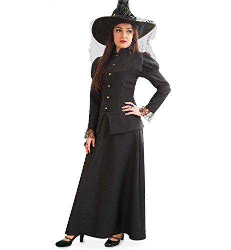 KarnevalsTeufel Damen-Kostüm Hexe Misty in Schwarz Halloween Walpurgisnacht Geisterstunde Hex Hex (44)