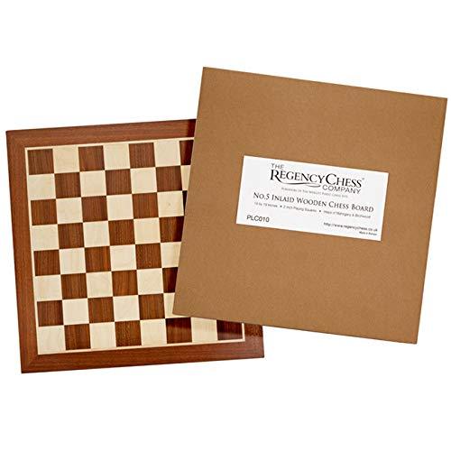 48.3cm Intarsiato scacchi in legno Pensione. No. 5