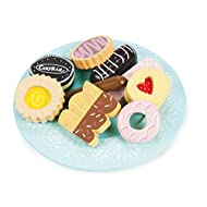 Le Toy Van Honeybake Collection Biscuit & Plate Set Premium Wooden Toys for Kids Ages 3 Years & Up