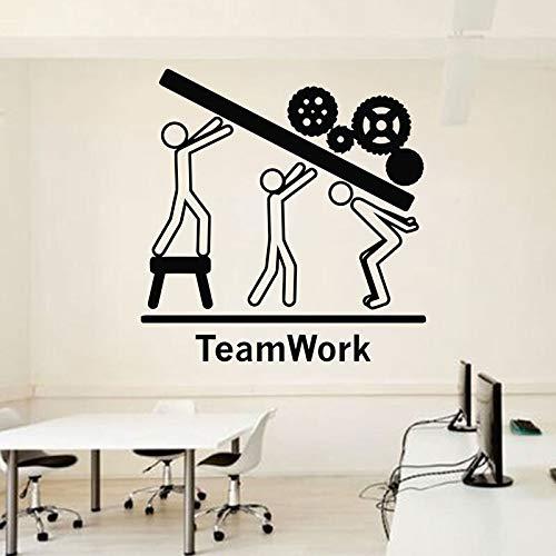 Tianpengyuanshuai Büro Wandtattoo Idee Teamwork Geschäftsarbeiter aufgeregt Büro Dekoration Ausrüstung Aufkleber 49X50cm