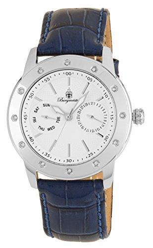Burgmeister Damen Analog Quarz Uhr mit Leder Armband BM807-183