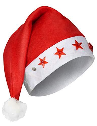 DEGUISE TOI - Bonnet Lumineux Père Noël - Taille Unique