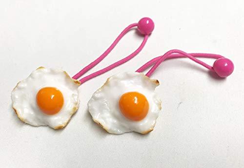 【ながお食研】熟練食品サンプル職人が作った 目玉焼きのヘアゴム 2個セット