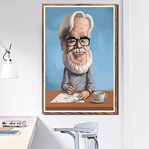 DIY digital målning Filmregissör konst målning målning dekorativ målning digital målningsduk Med pensel och akrylfärg vuxenfärg efter antal heminredningstillbehör Lämplig för30x45cm?Ingen ram?
