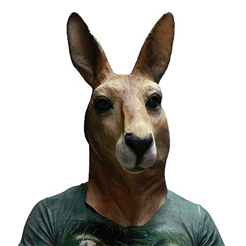 Winpavo Halloween-Deko Halloween Party Requisiten Vivid Cute Kangaroo AnimalMasks Latex para Accesorios De Decoración De Fiestas De Halloween