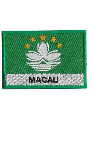 Aufnäher mit Macau-Flagge, bestickt, zum Aufbügeln, Souvenir, Zubehör