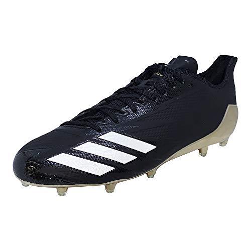 adidas Adizero 5-Star 6.0 Gold Cleat - Men's Football (13, Black/White/Gold)