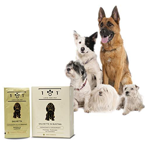 Herbruikbare en individueel verpakte doekjes in sachet, 25 stuks - met extracten van plantaardige en natuurlijke oorsprong - voor honden en katten, Linea 101