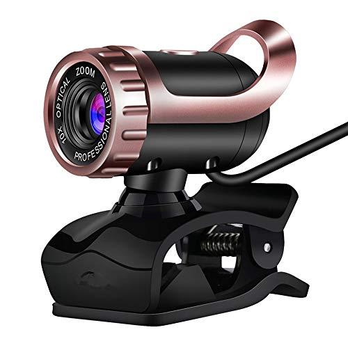 Qxinjinxsxt Cámara De Visión Nocturna Web USB, HD Informática Foto Drive Libres con Micrófono, Cámara De Enfoque Manual De Soporte De Windows 2000 / XP / Win7 / Win8 / Win10 / Vista/Linux. Webcam pa
