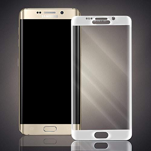 numerva Panzerfolie kompatibel mit Samsung Galaxy S6 Edge Plus Panzerglas [gebogen, Vollständige Abdeckung] Schutzfolie [Weiss]