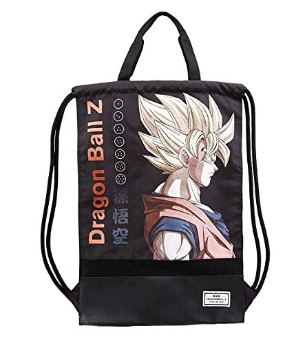 KARACTERMANIA Dragon Ball (Bola de Dragón) Kakarot-Saco de Cuerdas Storm con Asas, Negro