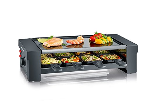 SEVERIN Pizza-Raclette Grill con Plancha Reversible, 1.150 W aprox