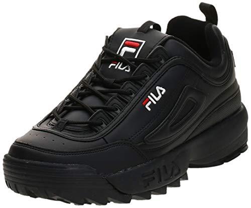 Fila Herren Disruptor Low Sneaker, Schwarz (Black 1010262-12v), 43 EU