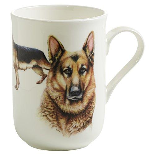 Maxwell & Williams Pets Schäferhund Hund, Geschenkbox, Porzellan, PB0703 Becher, braun, weiß, 10.5 x 7.5 x 10.5 cm