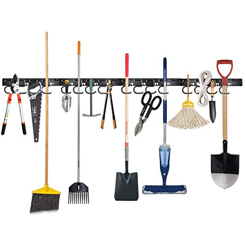 Twinkle Star Garage Tool Organizer Wall Mount Mop Broom Holder Wall Holders for Tools 4 Pack