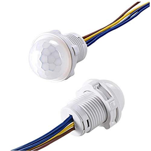 Aisoway Pir Sensor de Movimiento infrarrojo Mini Armario 110v 220v Interruptor de luz