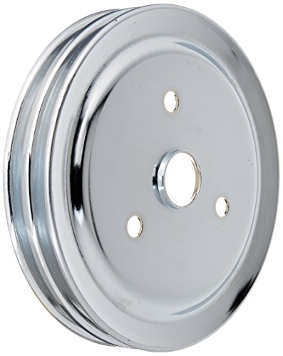 Racing Power Company R9603 Chrome SWP Double Groove Crank Pulley for Small Block Chevy