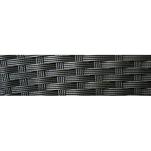 KMH®, 2-Sitzer Gartenbank aus schwarzem Polyrattan (#106068) - 5