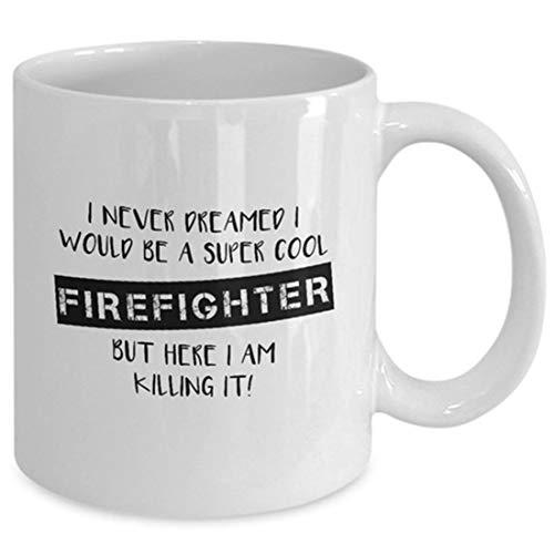 Taza de bombero, regalo de bombero, bombero, fuego, héroe, bombero, cumpleaños de bombero, día del padre, casa de bombero, taza de café