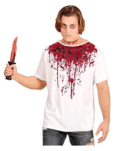 Horror-Shop Bloody T-Shirt für Zombies & Killer an Halloween M/L