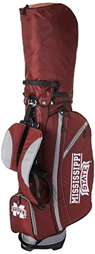 Team Golf NCAA Mississippi State Bulldogs Fairway Golf Stand Bag, Lightweight, 14-way Top, Spring Action Stand, Insulated Cooler Pocket, Padded Strap, Umbrella Holder & Removable Rain Hood
