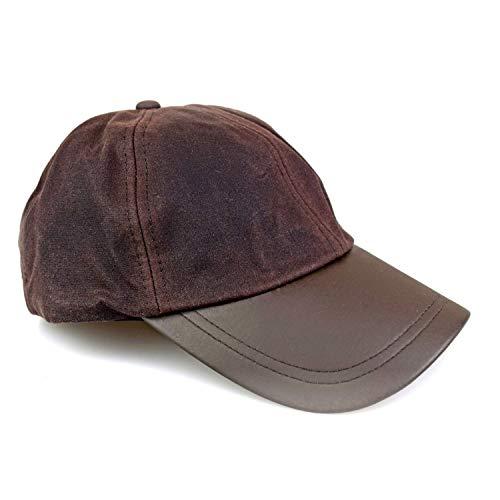 Romneys Wachscap | aus 100% gewachster Baumwolle, Wind und wasserdicht | Farbe: Braun | One Size