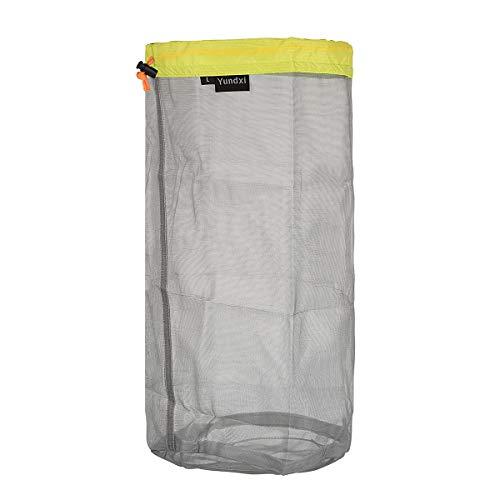 Yundxi Ultralight Ultra Stuff Sacks Set Mesh Drawstring Storage Bags Set for Travelling Camping Hiking (Set of 5 pieces)