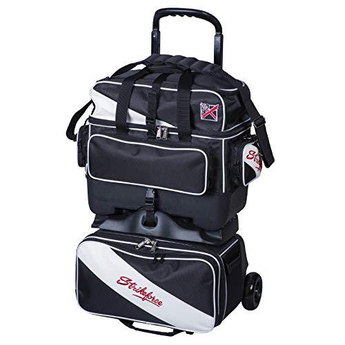 KR Strikeforce Strikeforce Bowlingtaschen StrikeFore, Fast 4 Ball Roller Bowlingtasche - Schwarz/Weiß, Schwarz/Weiß
