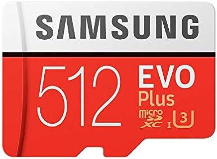 Samsung EVO Plus Class 10 Micro SDXC with Adapter, 512GB (MB-MC512GA)