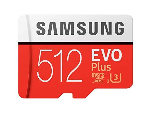 Samsung Memorie MB-MC512GA EVO Plus Scheda microSD da 512 GB, UHS-I U3, Fino a 100 MB/s, con Adattatore SD