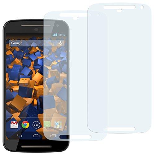mumbi Schutzfolie kompatibel mit Motorola Moto G 2. Generation Folie klar, Bildschirmschutzfolie (2X)