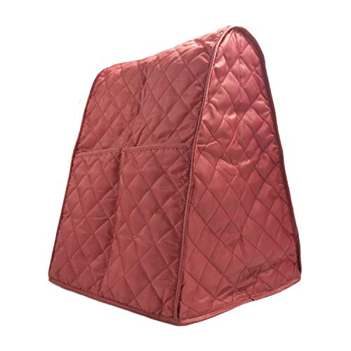 LIAMTU Stand Mixer Cover Large Size Dust-proof Satin Sheen Fabric Fits All Tilt Head & Bowl Lift Models for KitchenAid, Sunbeam, Cuisinart, Hamilton Beach Mixers (Ruby Red)