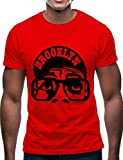 Swag Point Hip Hop T-Shirt - Funny Vintage Street wear Hipster Parody (M, BRKN-RED)