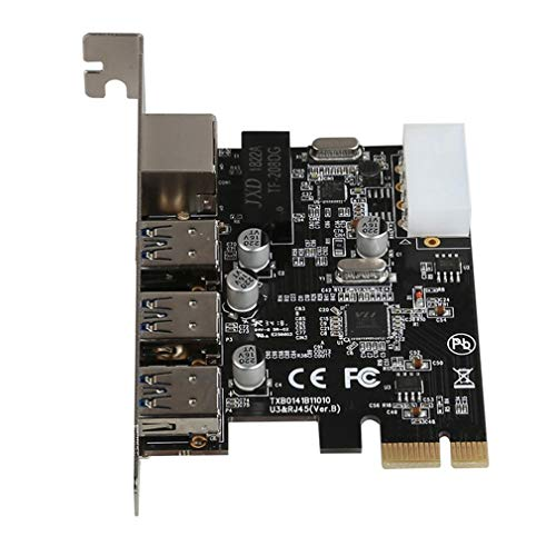 8153 Chipset Rj45 LAN Pci Express Tarjeta de Red USB 3.0 Tarjeta adaptadora Gigabit Negro