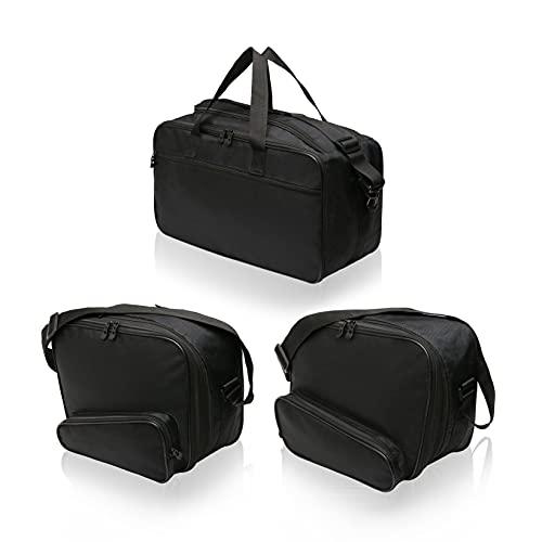 SET de 3 bolsas, bolsillos interiores adecuados para 2 maletas laterales moto (Vario) y 1 maleta moto (Vario / Top Case) de BMW K1200GT, R1200RT, R1250RT, K1300GT, K1600GT, K1600GTL - No. 17+18